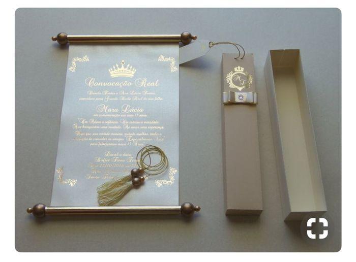 Convite pergaminho - 1