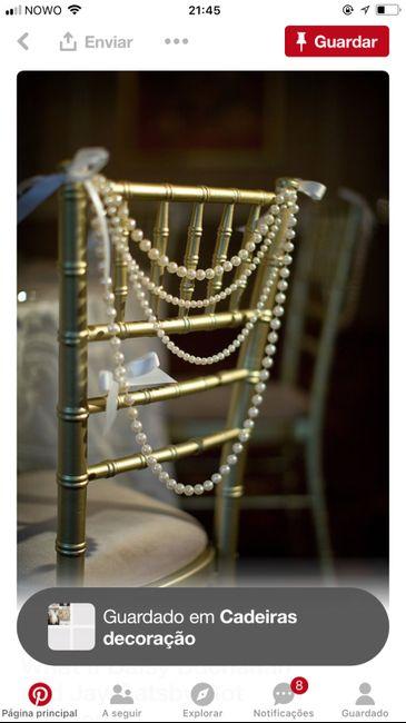 Inspirações para cadeiras dos noivos - 1