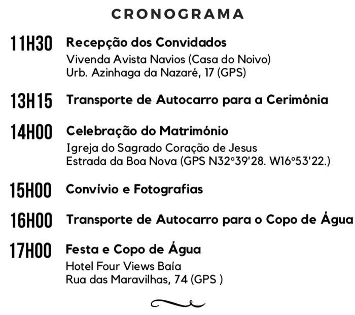 Manualidades (12): Cronogramas, croquis e outras formas pictóricas de comunicar com os vossos convidados 1