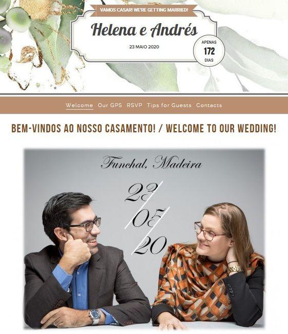 Manualidades (08): Website do vosso casamento 1