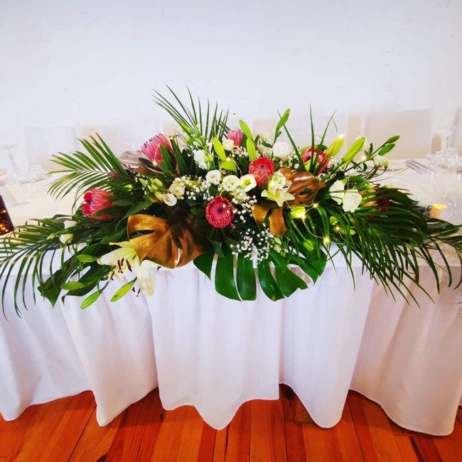 Decoração simples ou original para a mesa dos noivos? 💗 3