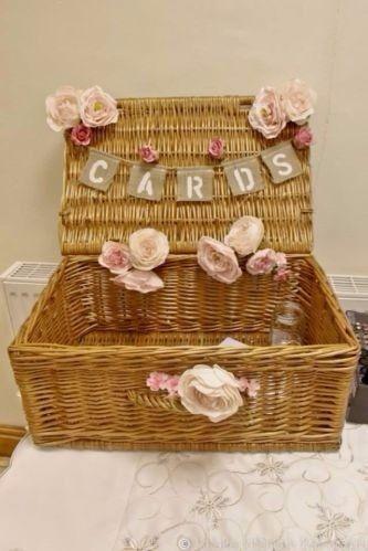 cesta decoração vintage