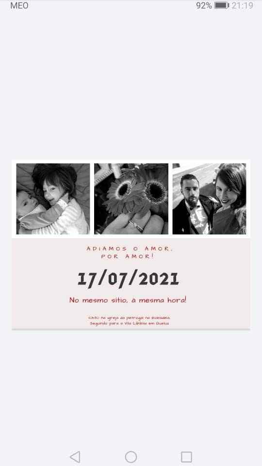 Help! Entrega convites?! save the date? - 1