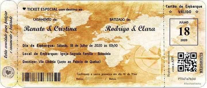 Convites de casamento e batizado - 1