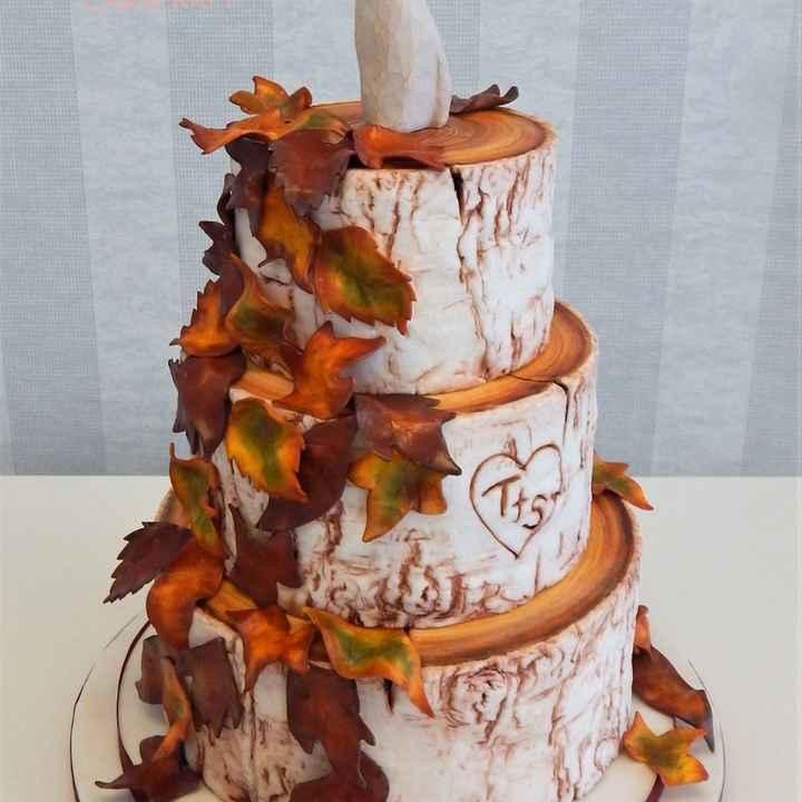 Inspirações para noivas de Outono - bolo - 1
