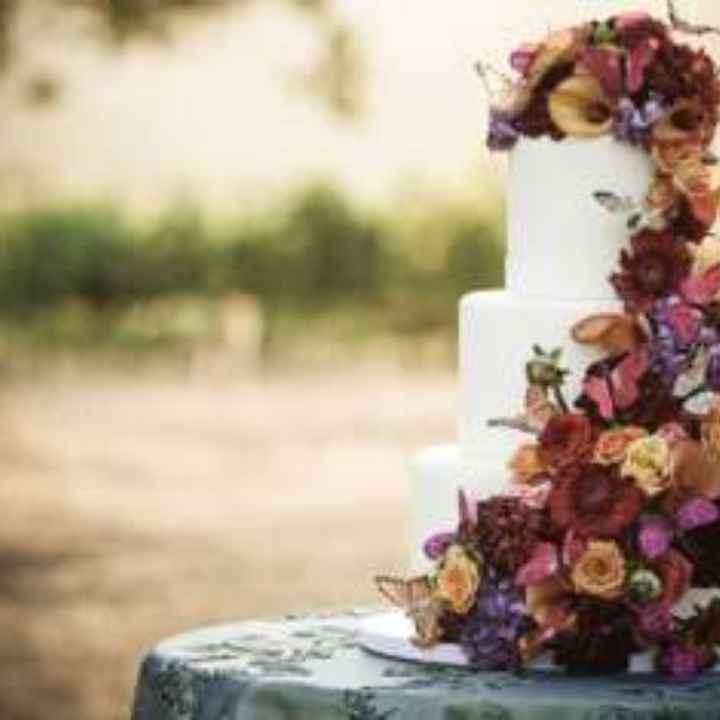 Inspirações para noivas de Outono - bolo - 3