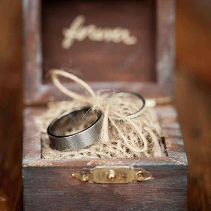 Inspirações para noivas de Outono - porta alianças - 1