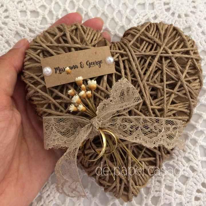 Inspirações para noivas de Outono - porta alianças - 3
