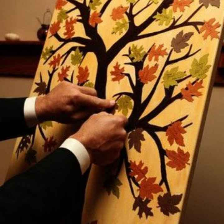 Inspirações para noivas de Outono - guestbook - 2