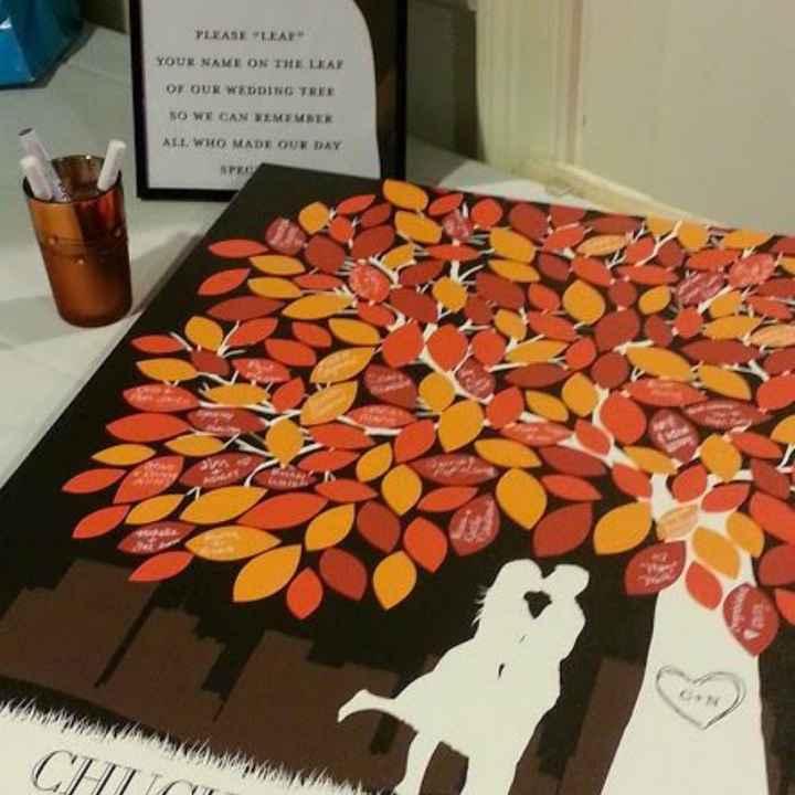 Inspirações para noivas de Outono - guestbook - 3