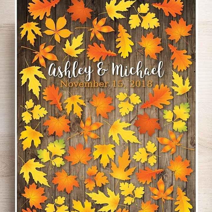 Inspirações para noivas de Outono - guestbook - 4
