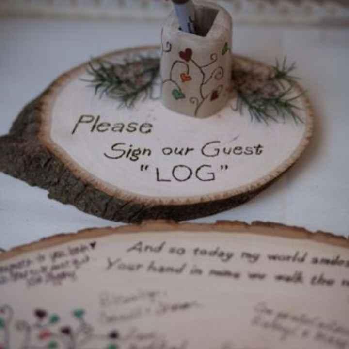 Inspirações para noivas de Outono - guestbook - 6
