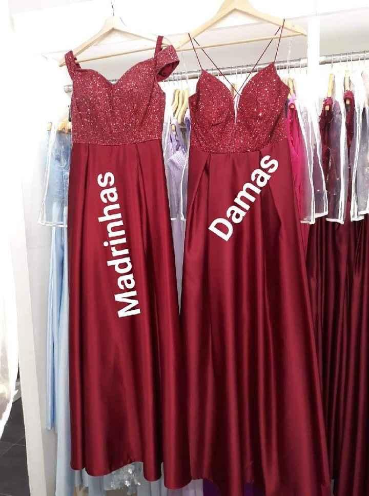 Vestidos das madrinhas e das damas de honor - 1