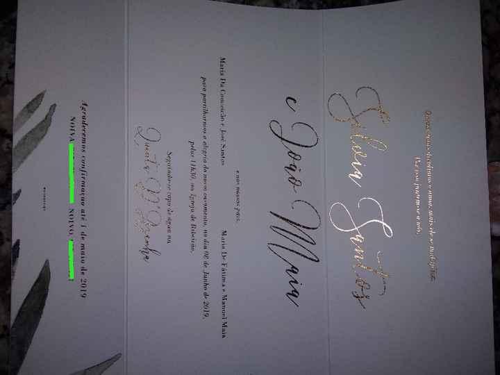 Os convites 😍 - 1