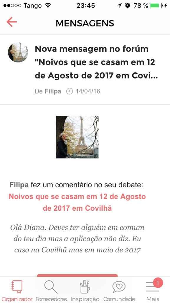 Noivos que se casam em 12 de Agosto de 2017 em Covilhã - 1