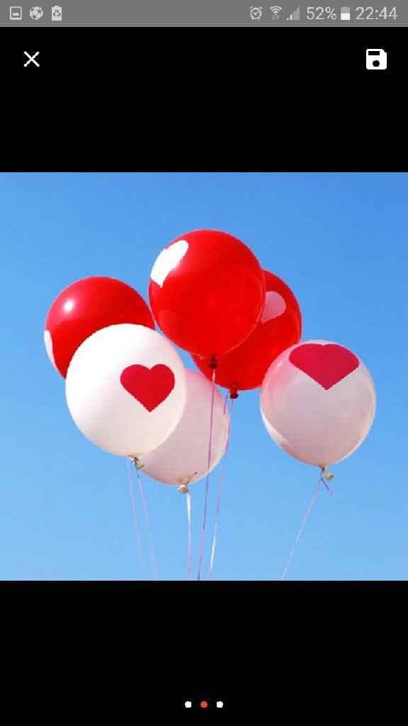 Balões para decoração dos carros  dos convidados - 1