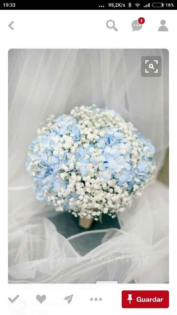 Azul azul azul....ramo de noiva - 1