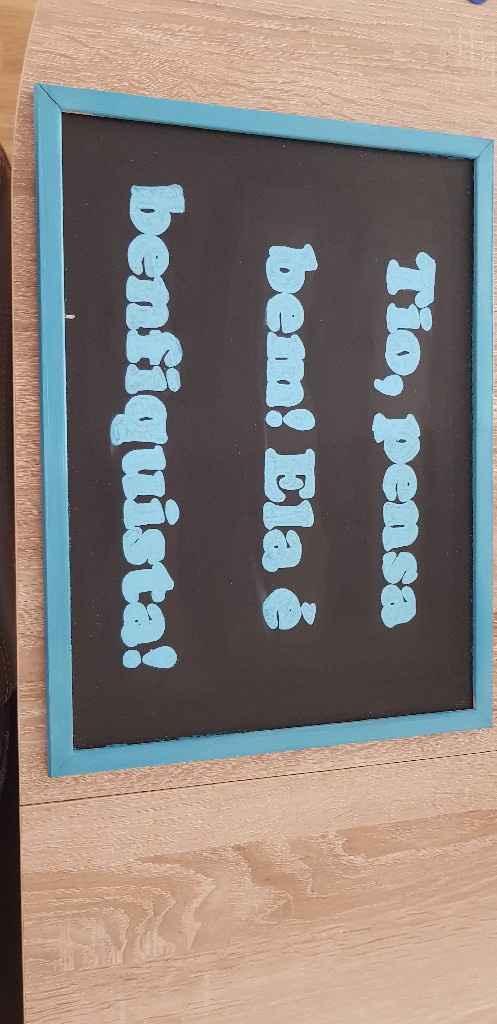 Placas para os meninos/as  das alianças. - 2