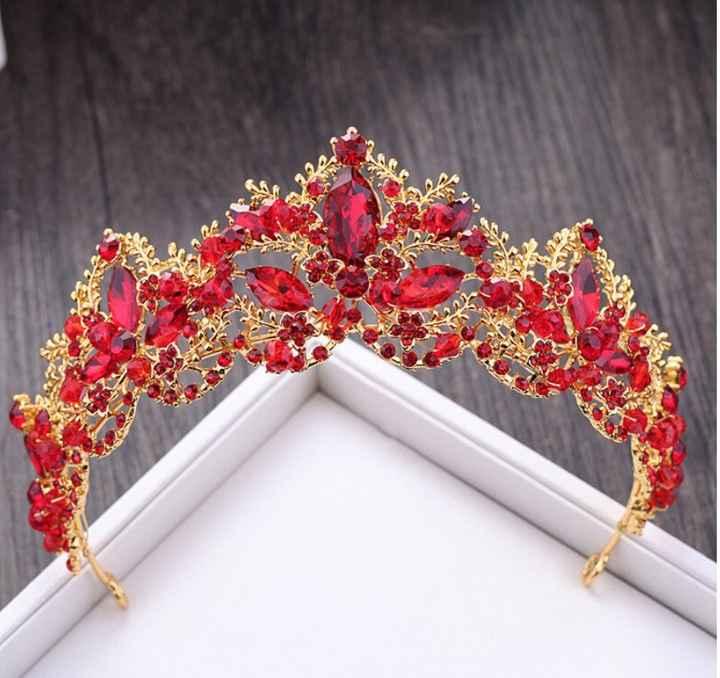 Arco íris nupcial - Toucados vermelhos - 2