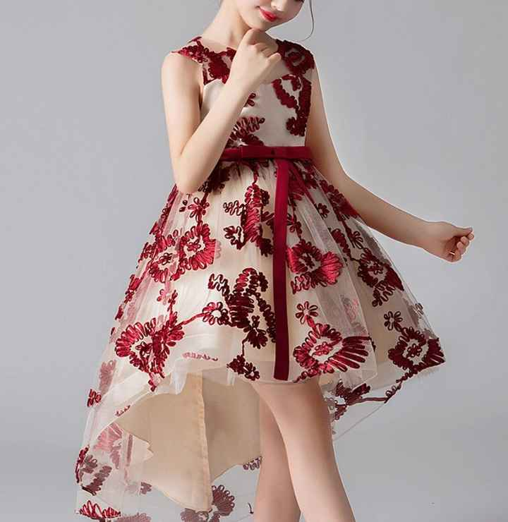 Arco-íris Nupcial - Vestido menina das alianças vermelho - 1