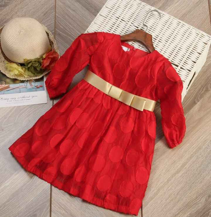 Arco-íris Nupcial - Vestido menina das alianças vermelho - 2