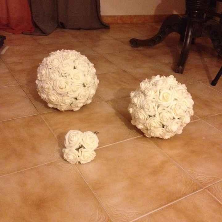 Bolas de flores - 1