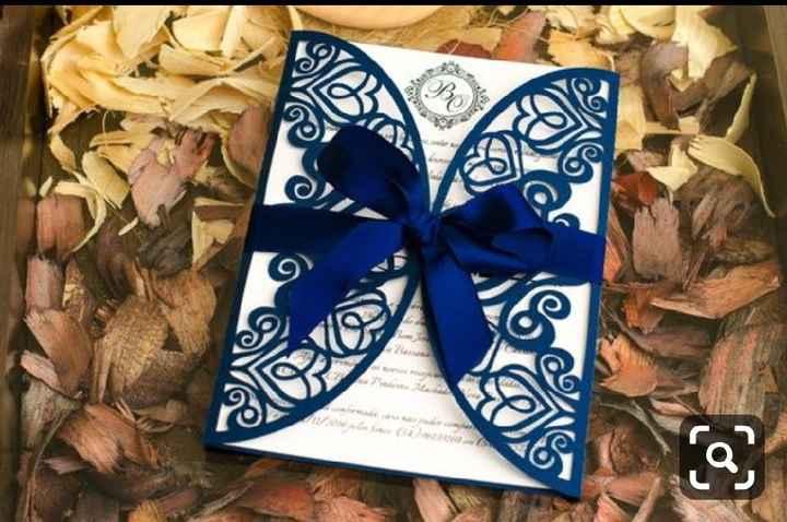 a minha inspiração com Classic Blue - convites - 1