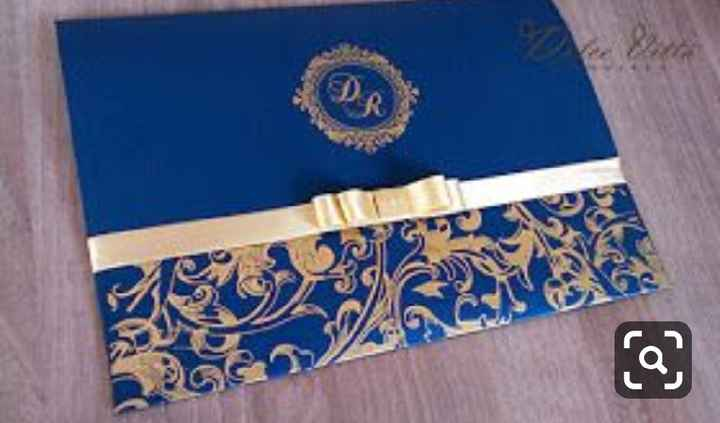 a minha inspiração com Classic Blue - convites - 2