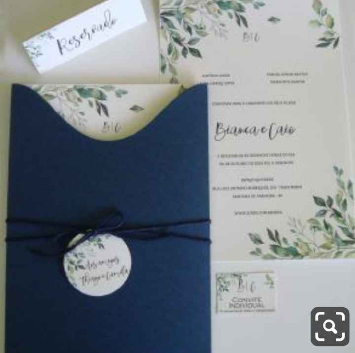 a minha inspiração com Classic Blue - convites - 4