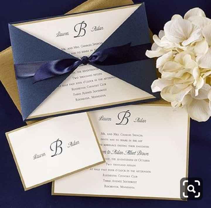 a minha inspiração com Classic Blue - convites - 6