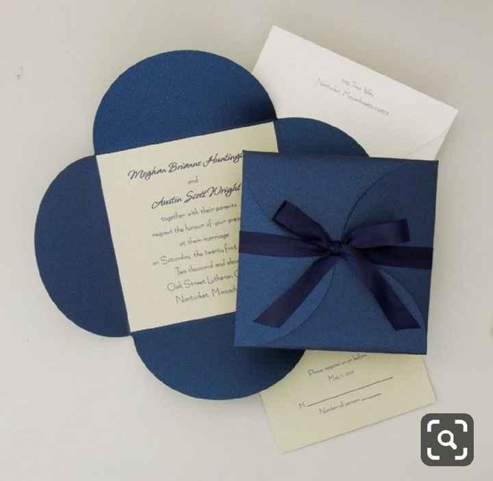 a minha inspiração com Classic Blue - convites - 7