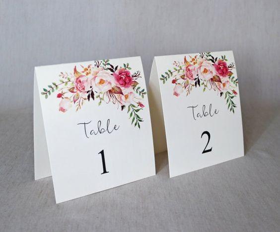 Identificar mesas com números - Inspirações! 1