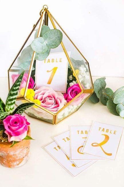 Identificar mesas com números - Inspirações! 3