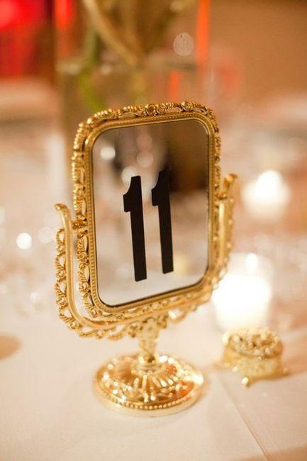 Identificar mesas com números - Inspirações! 5