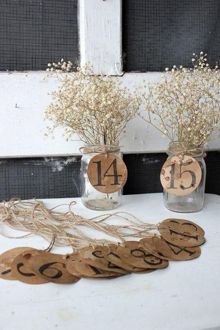 Identificar mesas com números - Inspirações! 6