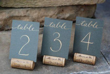 Identificar mesas com números - Inspirações! 10