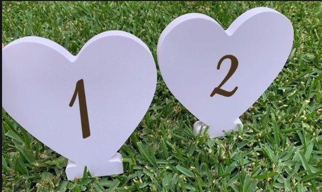 Identificar mesas com números - Inspirações! 11