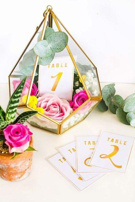 Marcadores de mesa 5