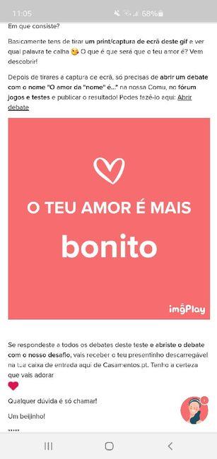 o nosso amor é ..... ? - 1