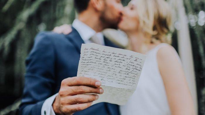 Vais fazer votos matrimoniais personalizados? 1