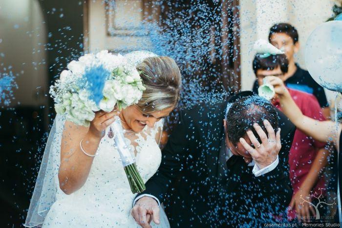 O que será lançado na saída dos noivos? 1