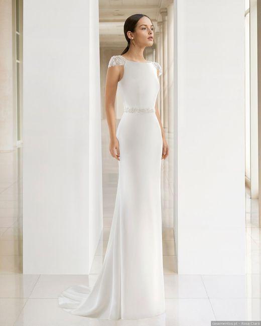 Vestidos para noivas minimalistas: qual destes modelos usarias? 1