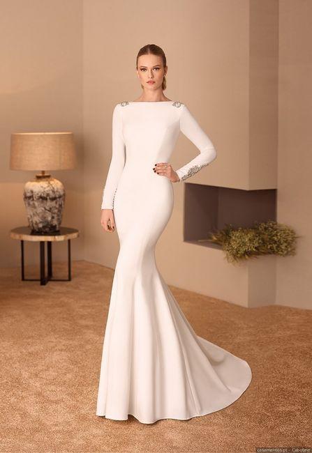 Vestidos para noivas minimalistas: qual destes modelos usarias? 3