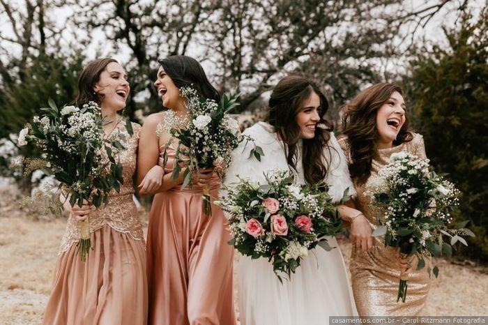 Que vestido para as damas de honor escolhes? 3