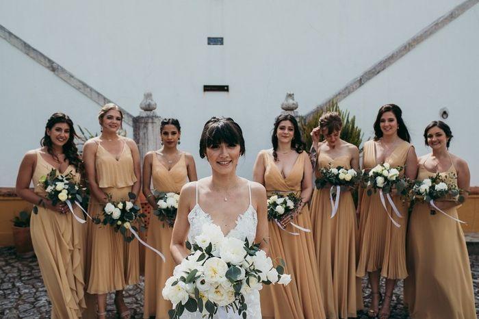 Que vestido para as damas de honor escolhes? 2