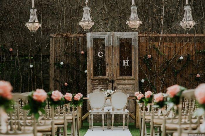 O espaço do meu casamento será _______ 1