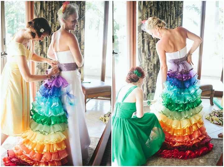 o Arco-íris invade a Comunidade: 3 Inspirações para Vestidos de Noiva 🌈 - 2