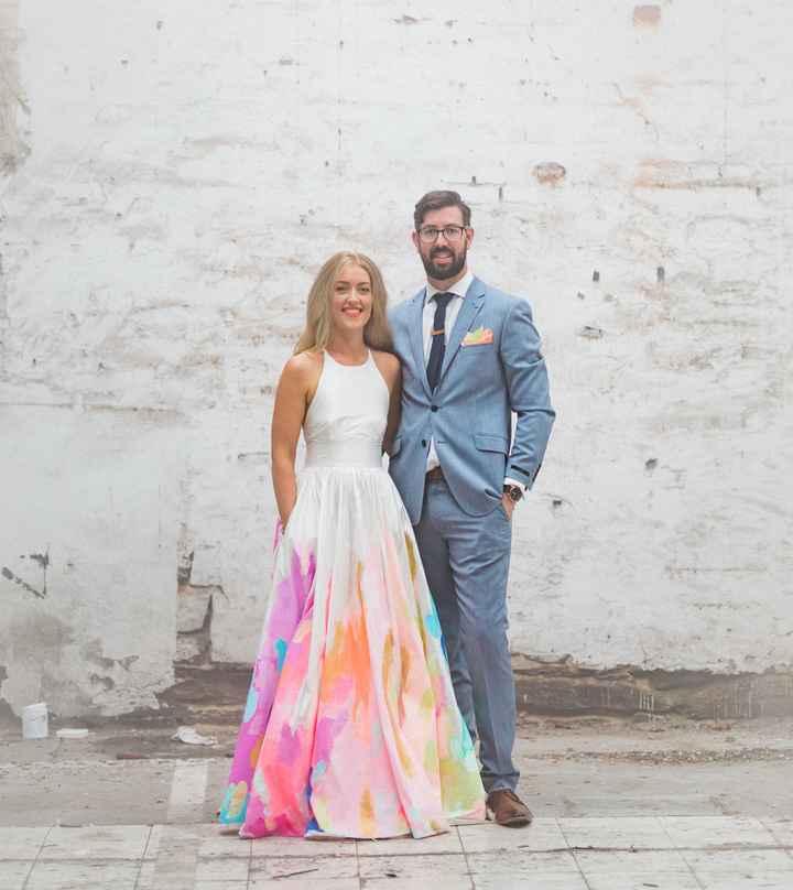 o Arco-íris invade a Comunidade: 3 Inspirações para Vestidos de Noiva 🌈 - 3