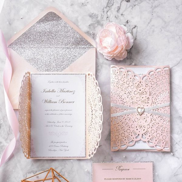 Outubro é Rosa: Convites de Casamento 🎗️ 3