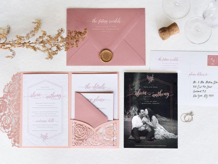 Outubro é Rosa: Convites de Casamento 🎗️ 4